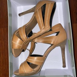 Jessica Simpson Itanya Camel Zip Sandal